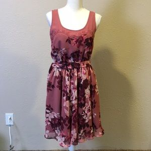 Lauren Conrad floral tank dress